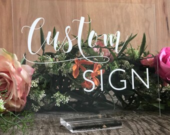 Acrylic wedding sign | Etsy