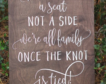 wedding seating plan sign sit wherever your heart desires etsy