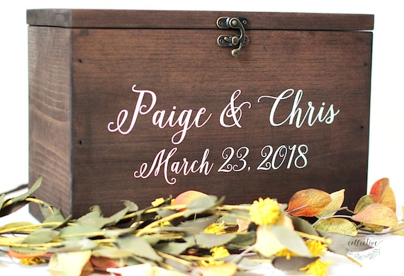 Wood Wedding Card Box with Lid Wedding Money Box Wedding | Etsy