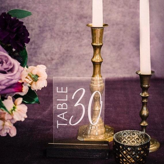 Acryl Tischnummern Tabelle Anzahl Ideen Hochzeit Tisch Nummer Etsy