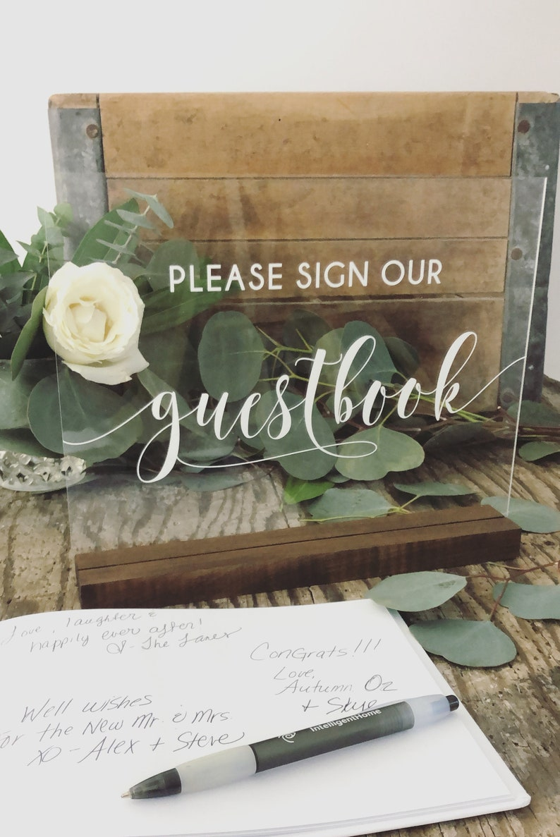 Please Sign Our Guestbook Acrylic Sign  Guest Book Sign  image 0