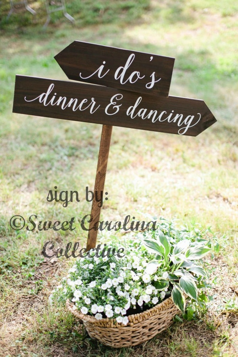 Rustic Wedding Signs.I Do S Dinner Dancing Wooden Wedding Signs Wedding Decor Rustic Wedding Signs Custom Wedding Signs Directional Signs Ws 218