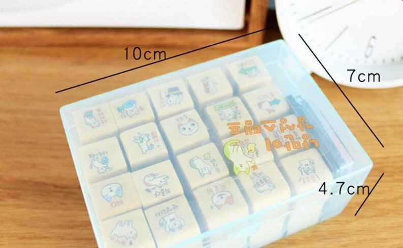 Antique Wooden Stamp Set Square Drawer Stamp \u2013 WF00500 Filofax Rubber Stamp Set With Box Planner Stamps