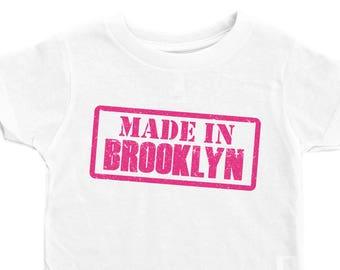 2cbb7a83 Kids Brooklyn Shirt, Made In Brooklyn, Kids Brooklyn Tee, Funny Kids Tshirt,  Girls Brooklyn Tee, Funny Girl Tshirt, Brooklyn Shirt, Brooklyn