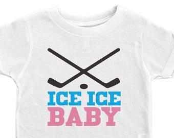 3bd53eac9 Girls Hockey Tee, Ice Ice Baby, Hockey Kids Shirt, Hockey Toddler Tee,  Unisex Hockey Shirt, Toddler's Hockey Tee, Kids Hockey Shirt, Hockey