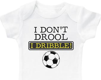 b9e5fafee Funny Soccer Bodysuit for Kids   Cute Newborn Outfits for Soccer Fans    Unisex Sports Baby Clothes   Baby Shower