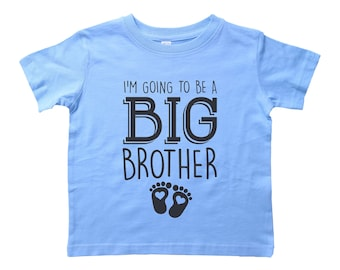 8097c6916 Big Brother Shirt, I'm Going To Be A BIG BROTHER, Pregnancy Announcement, Big  Bro Crew Neck, Toddler Tshirt, Funny Tee For Kids, Youth