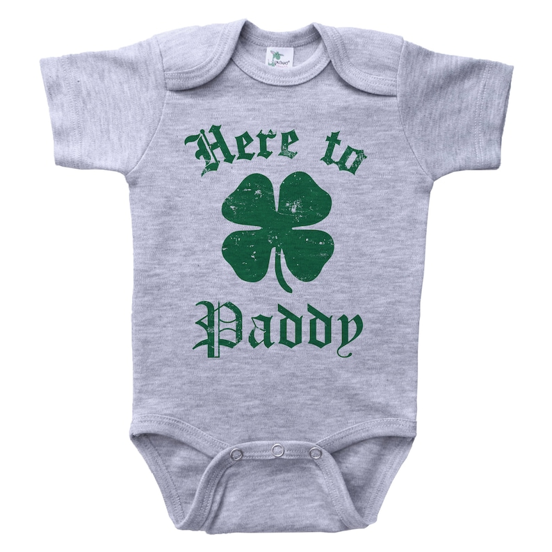 9c1e833ef983 St Patrick s Day Onesie Here To Paddy Funny Onesie St.