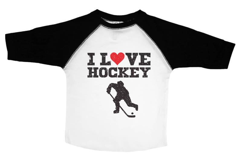 ff792399d1217 Hockey Kids Tee, I Love Hockey, Funny Hockey Shirt, Kids Hockey Tshirt,  Crew Neck Toddler Tee, Unisex Kids, Sports Tees, Youth Hockey Tee