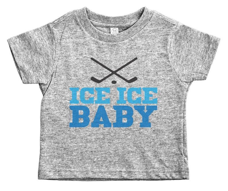 99aa6c31a Kids Hockey Tee Ice Ice Baby Hockey Shirts for Kids Hockey | Etsy