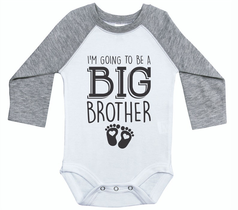 8725ea36a Big Brother Onesie I'm Going To Be A Big Brother Raglan | Etsy