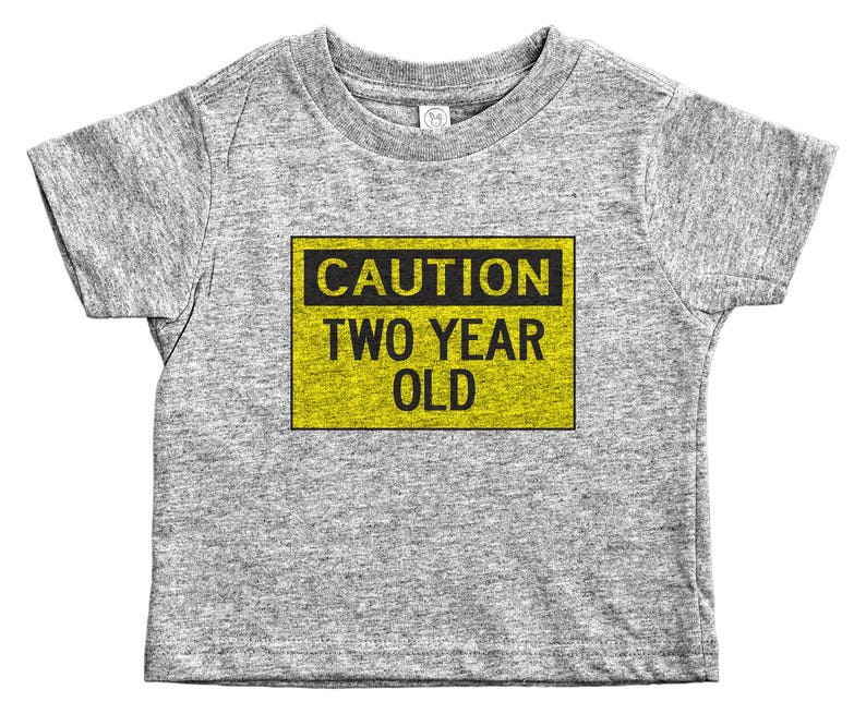 Second Birthday Shirt Caution Two Year Old 2 Yr Shirts