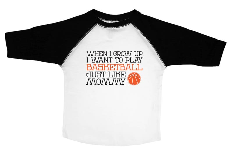 477c54e8 Funny Basketball Tee for Kids / Play Basketball Like Mommy / | Etsy