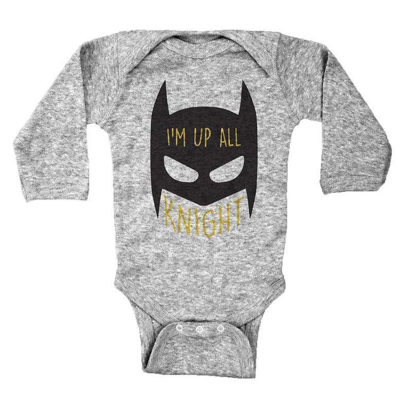 5e05ecad0 Funny Batman Inspired Onesie I'm Up All Knight Super | Etsy