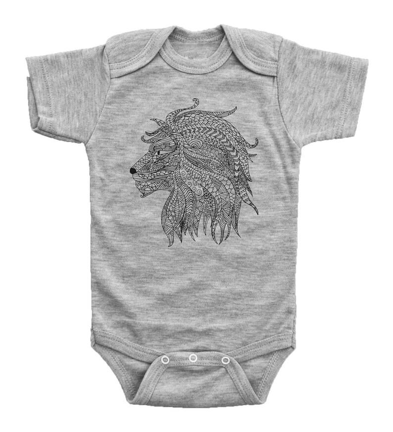59e16233a30f Lion Onesie Boys Lion Bodysuit Newborn Lion Outfits Lion