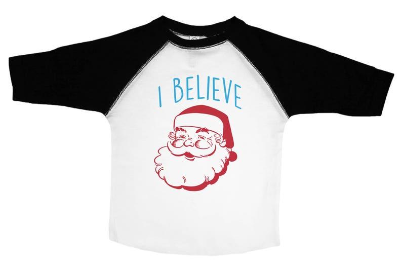 e082698b7943e Funny Christmas Shirt, I Believe, Kids Santa Clause Tee, Kids Santa Tee,  Christmas Toddler Tee, Children's Santa Tee, Child's Christmas Tee