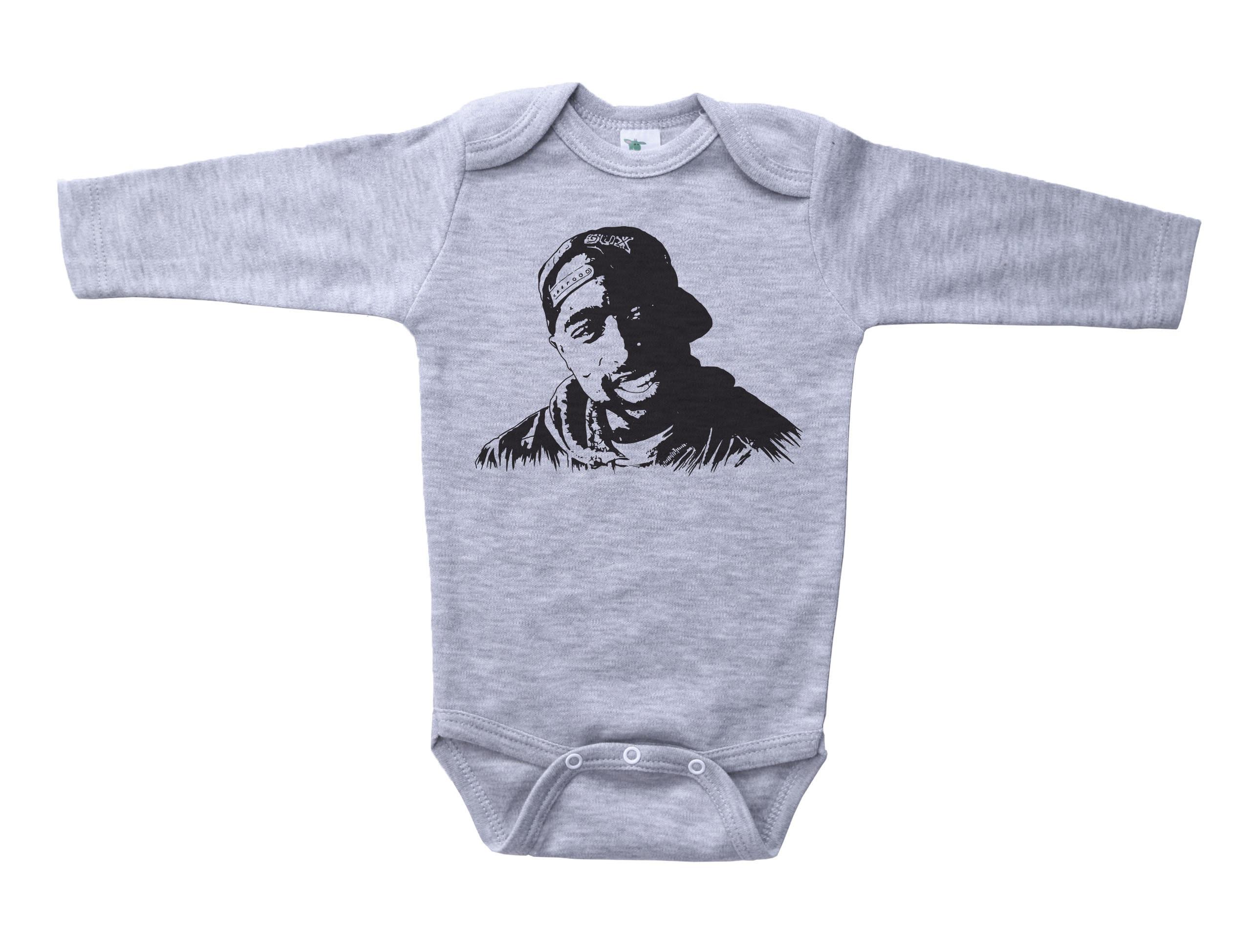 White Bodysuit Romper Jumpsuit TUPAC - Get Baffle Newborn Infant Baby