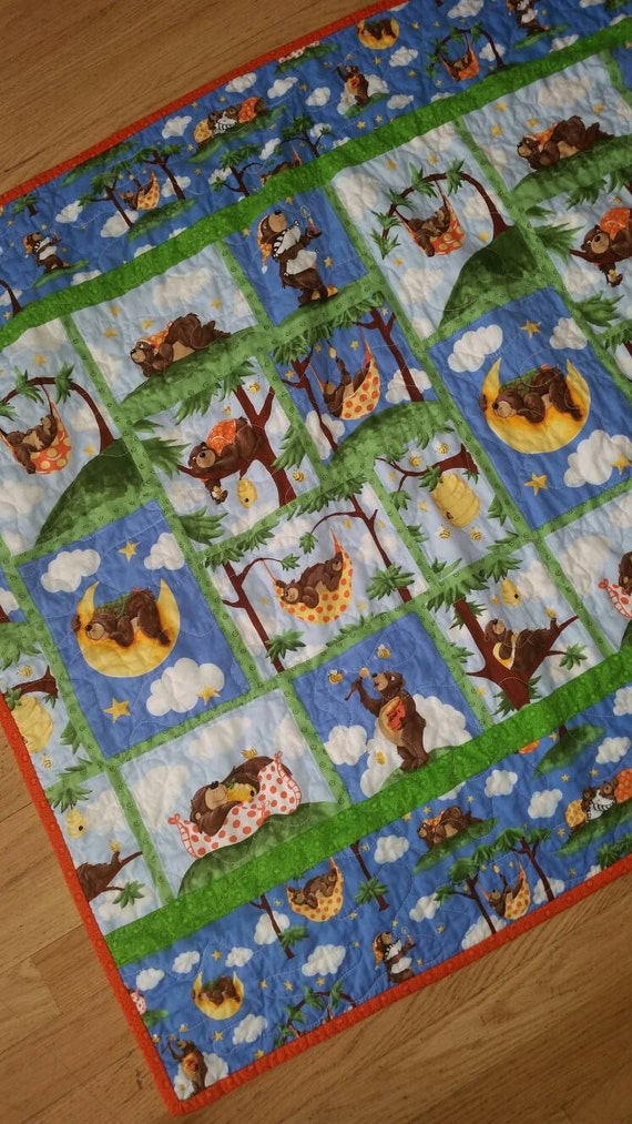 Suzy Bee Bear Crib Nursery Toddler Nursery Baby Crib Bedding Baby Shower Present New Baby Gift Crib Ensemble Gender Neutral Gift Playmat