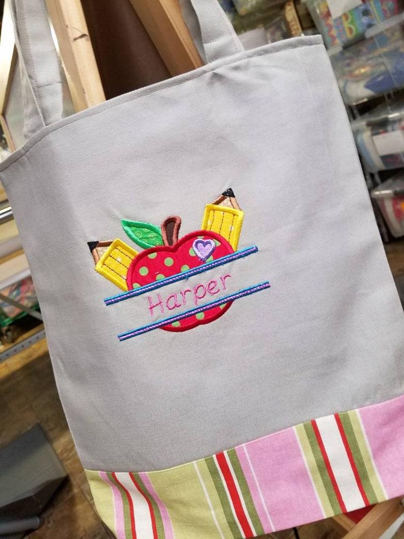 Birthday Reversible Bag Preschool Tote Tote Bag for Kids Personalized Kids Tote Bag Kindergarten Tote Canvas Tote Bag School Tote