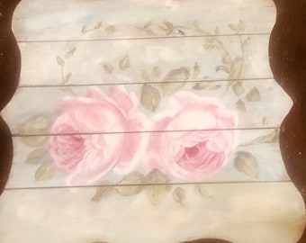 Roses wooden sign