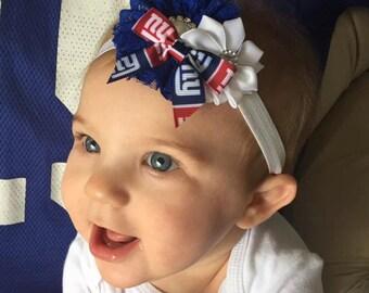 NY Giants Headband, NY Giants Baby Headband, NY Giants Newborn Headband, Great Baby Photo Prop