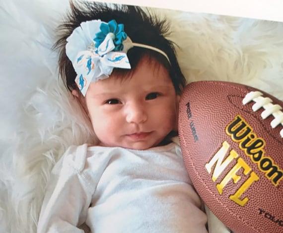 Miami Dolphins Football Baby//Toddlers //Girl Headband