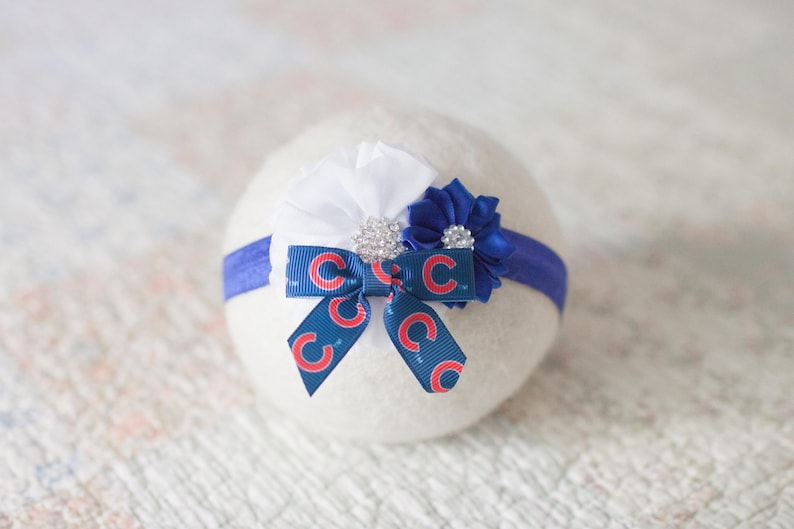 Chicago Cubs Baby Headband Chicago Cubs Newborn Headband Great Baby Photo Prop Chicago Cubs Headband
