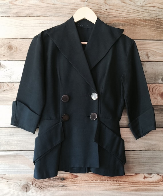 Vintage 1940s Navy Two-Piece Suit