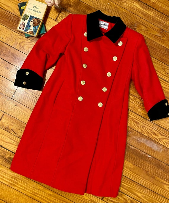 Vintage Rothschild Red and Black Military / Sgt Pe