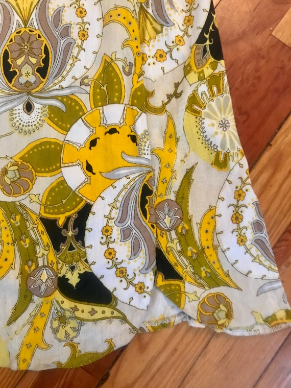 Vintage 1960s Psychedelic Print Maxi Skirt - Pucc… - image 4