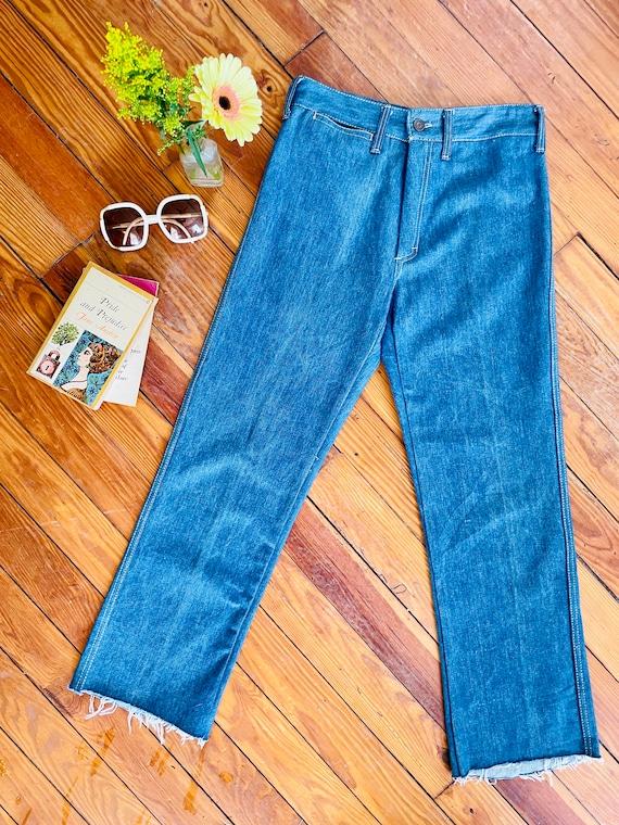 Vintage 1970s Rare French Dressing Co. Blue Denim