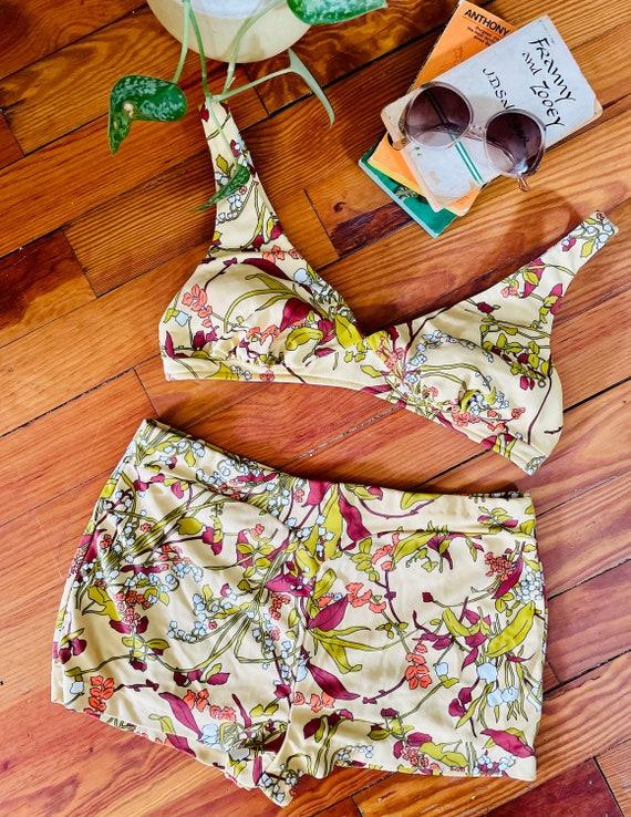 Vintage 1960s/70s Catalina Floral Bikini /Two Piec