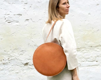 Circle Leather Handbags