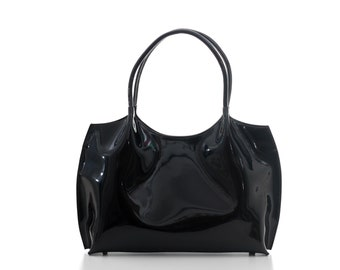 2db2a9d58423 Black leather shoulder bag