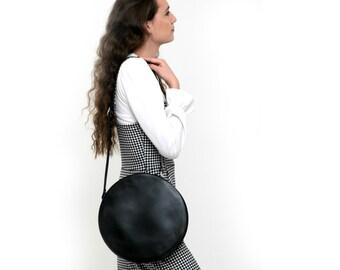 Circle Leather Handbags