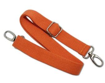 Cotton canvas crossbody purse strap replacement, 3 cm, Adjustable bag straps
