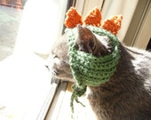 Cat Hat Crochet Pattern Hat for Cat Halloween Costume Dinosaur Cat Costume Dog Hat Cat Clothes Pet Gift for Cat Lover Cat Lady or Cat Mom