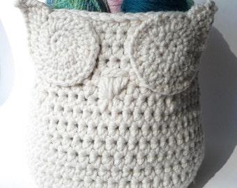 Items similar to Basket Owl Crochet Pattern Storage Basket Storage