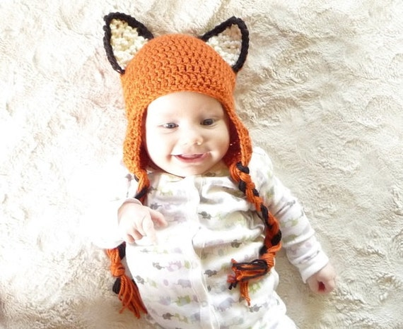 Crochet Fox Hat Crochet Pattern Crochet Earflap Hat Pattern  8ba12260fb2