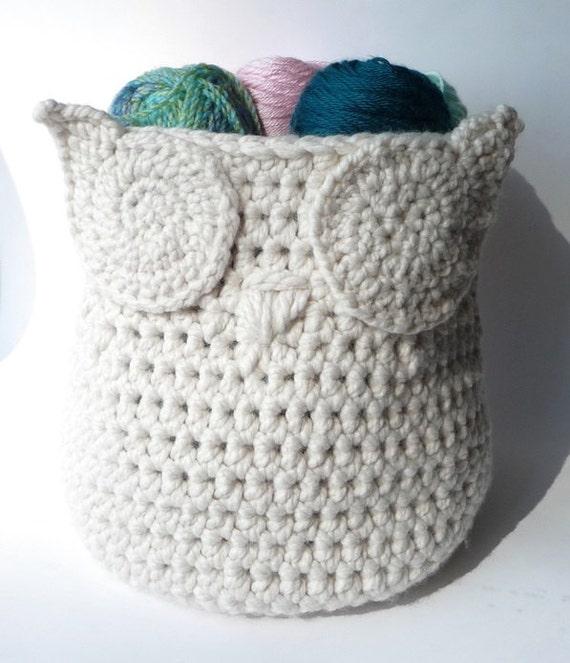 Gift Basket Crochet Pattern Owl Baby Shower Yarn Holder Yarn Etsy