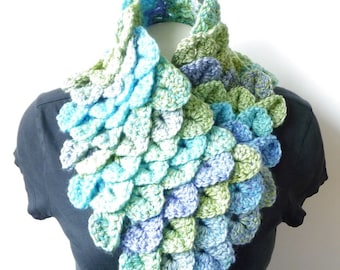 Cowl Scarf CROCHET PATTERN Crocodile Stitch Crochet Neckwarmer Infinity Scarf Mermaid Crochet Neck Warmer Crochet Cowl Chunky Bulky Scarf
