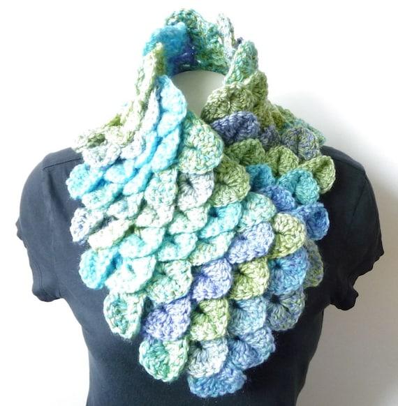 Cowl Scarf Crochet Pattern Crocodile Stitch Crochet Neckwarmer Etsy