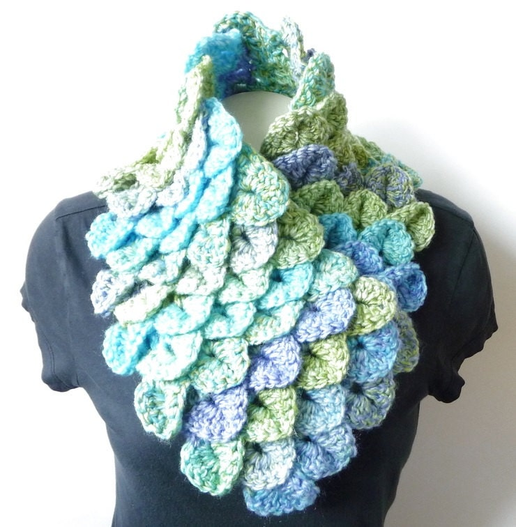 Spring Scarf Crochet Pattern Dragon Scales Scarf Dragon Scarf Etsy