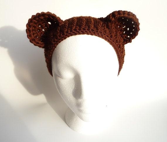 Headband Ear Warmer Crochet Pattern Bear Ears Headband Etsy