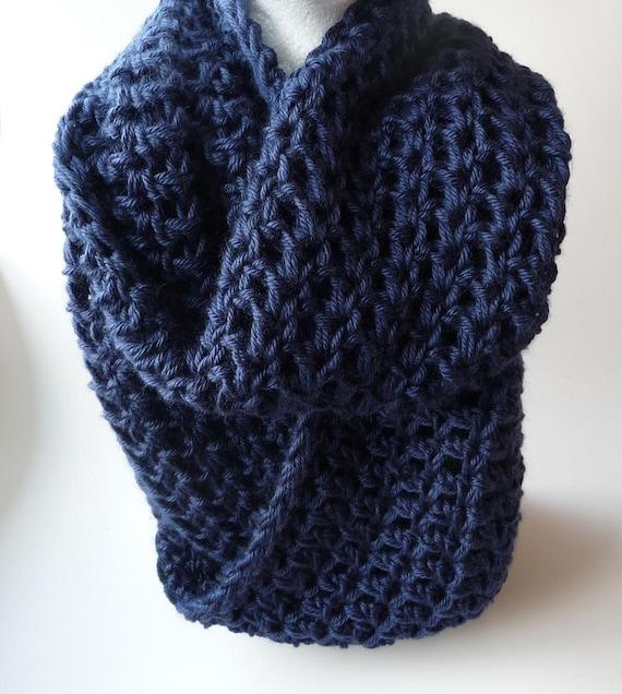 Crochet Infinity Scarf Pattern Crochet Cowl Scarf Pattern Etsy Simple Chunky Infinity Scarf Crochet Pattern