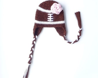 Football Baby Hat CROCHET PATTERN Football Baby Girl Football Baby Boy Football Baby Clothes Baby Football Beanie Football Accessories