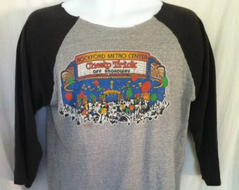 Vintage CHEAP TRICK Tshirt/ Original RARE 1982 New Years Eve Show 3/4 Sleeve Jersey T-shirt/ Off Broadway Rockford Metro Center Altered Tee