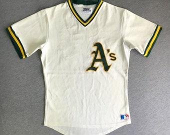 0e467e7f OAKLAND A's Jersey Late 70's Early 80's Vintage / Rare Sewn Sand Knit  Medalist #20/ MLB Baseball Uniform Murray Armas UsA Sz 40