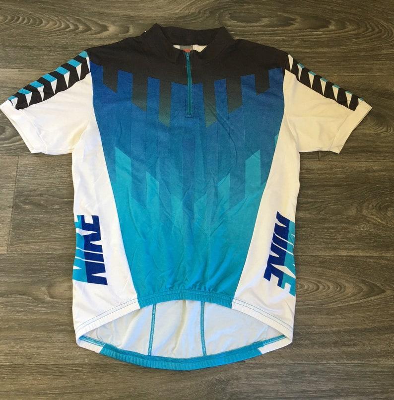 Nike Cycling Jersey Grey Tag Vintage 80s Shirt Biking Sports  b2aefb5d6