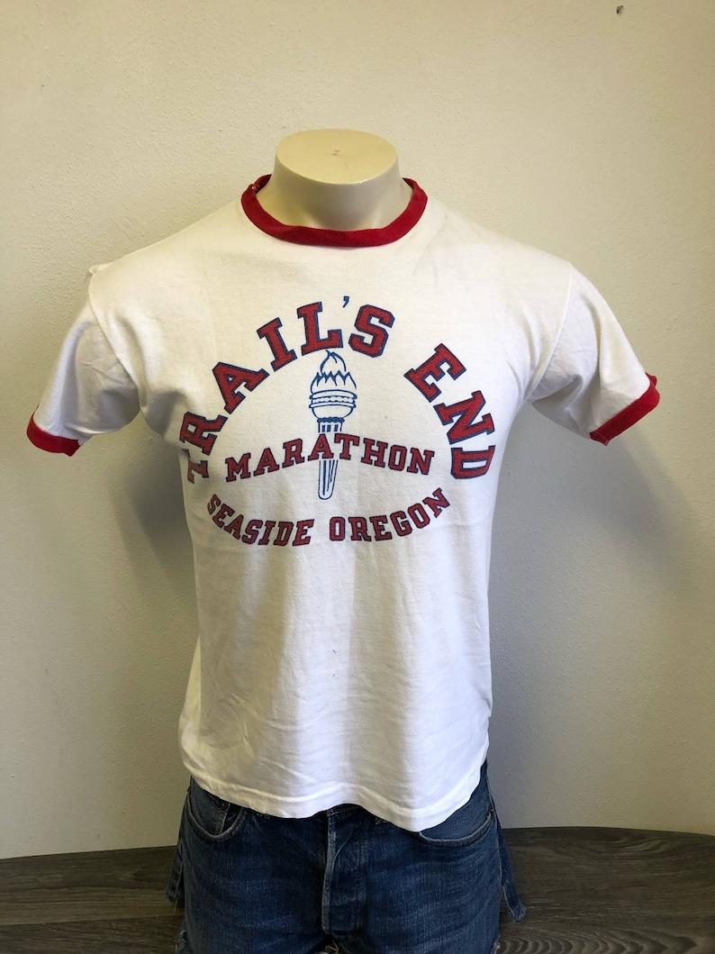 3c378d11f Champion Blue Bar Trails End Marathon Ringer Tshirt Vintage | Etsy